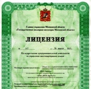 Лицензия УК
